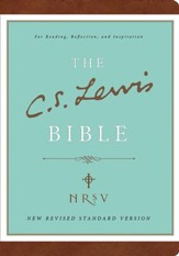 The C.S. Lewis Bible, NRSV, Bonded Leather, Brown - Slightly Imperfect