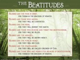 The Beatitudes, Laminated Wall Chart