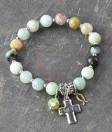 Cross/John 3:16 Beaded Bracelet