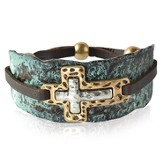 Double Cross Bracelet, Blue
