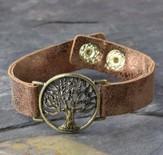 Tree of Life Bracelet, Leather-Like