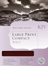 KJV Holman Large Print Compact Bible, Burgundy Bonded Leather - Imperfectly Imprinted Bibles