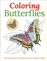 Coloring Butterflies: Over 40 Delightful Pictures with Full Coloring Guides