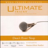 Don't Ever Stop, Accompaniment CD