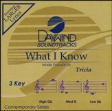 What I Know, Accompaniment CD