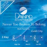 Never Too Broken To Belong, Accompaniment CD