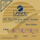 All the People Said Amen, Accompaniment CD