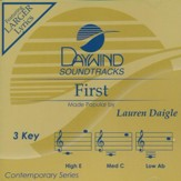 First, Accompaniment CD
