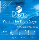 What the Bible Says, Accompaniment CD