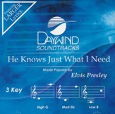 He Knows Just What I Need, Accompaniment CD
