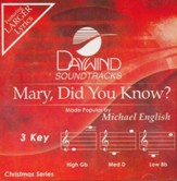 Mary Did You Know (3 Key) Accompaniment, CD