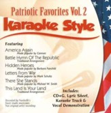Patriotic Favorites, Karaoke Style, Volume 2 CD