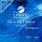 He's All I Need, Accompaniment CD