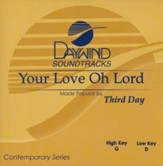 Your Love Oh Lord, Accompaniment CD