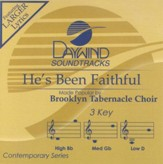He's Been Faithful, Accompaniment CD