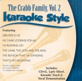 The Crabb Family, Volume 2, Karaoke Style CD