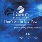 Don't Sit In My Pew, Accompaniment CD