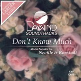 Don't Know Much [Music Download]