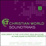 How Great Is The Love [Music Download]