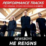 He Reigns (Key-G-Premiere Performance Plus w/Background Vocals) [Music Download]