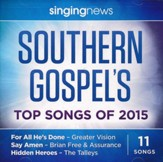 Singing News: Southern Gospel's Top Songs of 2015