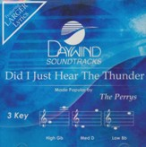 Did I Just Hear The Thunder, Accompaniment CD