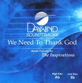 We Need To Thank God, Accompaniment CD