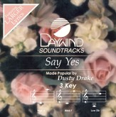 Say Yes, Accompaniment CD