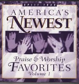 America's Newest Praise & Worship Favorites, Split-Track, Compact Disc [CD]