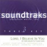 Lord, I Believe In You, Accompaniment CD