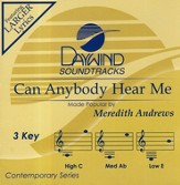 Can Anybody Hear Me, Accompaniment CD