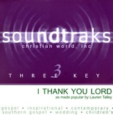 I Thank You Lord, Accompaniment CD