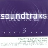I Want To Say Thank You, Accompaniment CD