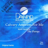 Calvary Answers For Me, Accompaniment CD