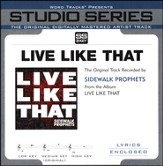 Live Like That (Low Key Track without Background Vocals) [Music Download]