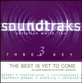 The Best Is Yet To Come, Accompaniment CD