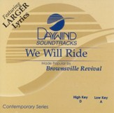 We Will Ride, Accompaniment CD