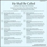 He Shall be Called: Celebrate His Name this Christmas (Split-Track Accompaniment)