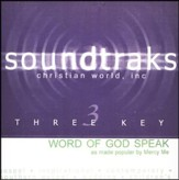 Word Of God Speak, Accompaniment CD