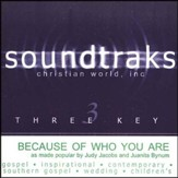 Because Of Who You Are, Accompaniment CD