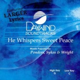 He Whispers Sweet Peace, Accompaniment CD