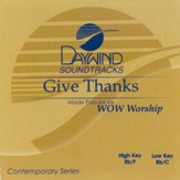 Give Thanks, Accompaniment CD