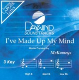 I've Made Up My Mind, Accompaniment CD