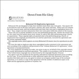 Down From His Glory, Rehearsal CDs (Satb)