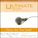 Ultimate Tracks - Great Are You Lord - As Made Popular By Phillips, Craig & Dean [Performance Track] [Music Download]