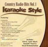 Country Radio Hits Volume 1, Karaoke Style CD