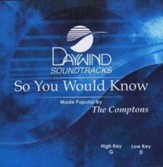 So You Would Know, Accompaniment CD