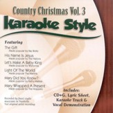 Country Christmas, Volume 3, Karaoke Style CD