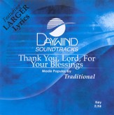 Thank You Lord For Your Blessings, Accompaniment CD