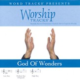 God Of Wonders - Medium key performance track w/ background vocals [Music Download]